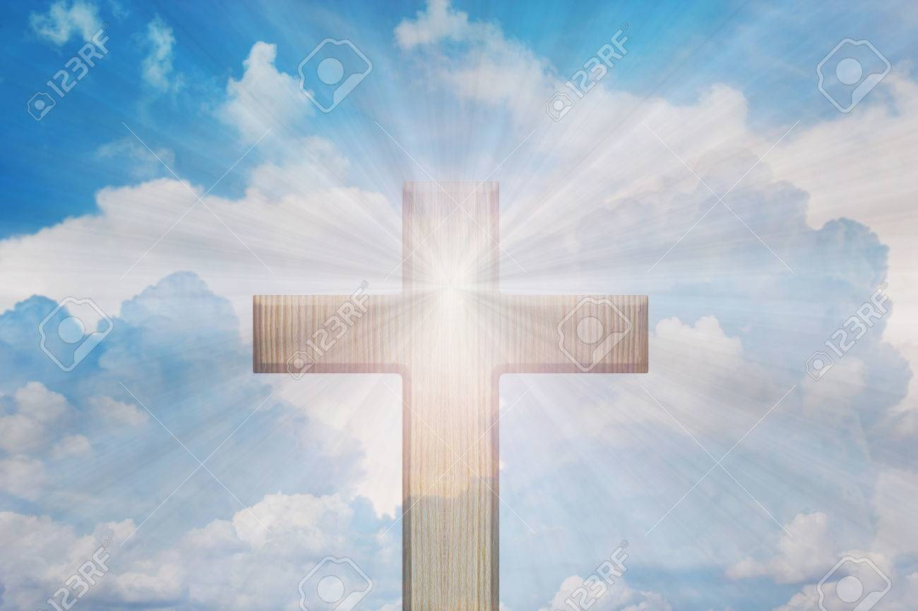 Photo And Free 57773850 Or Heaven Sky Image light God Of Picture Shine Light Cross From Royalty Stock Image