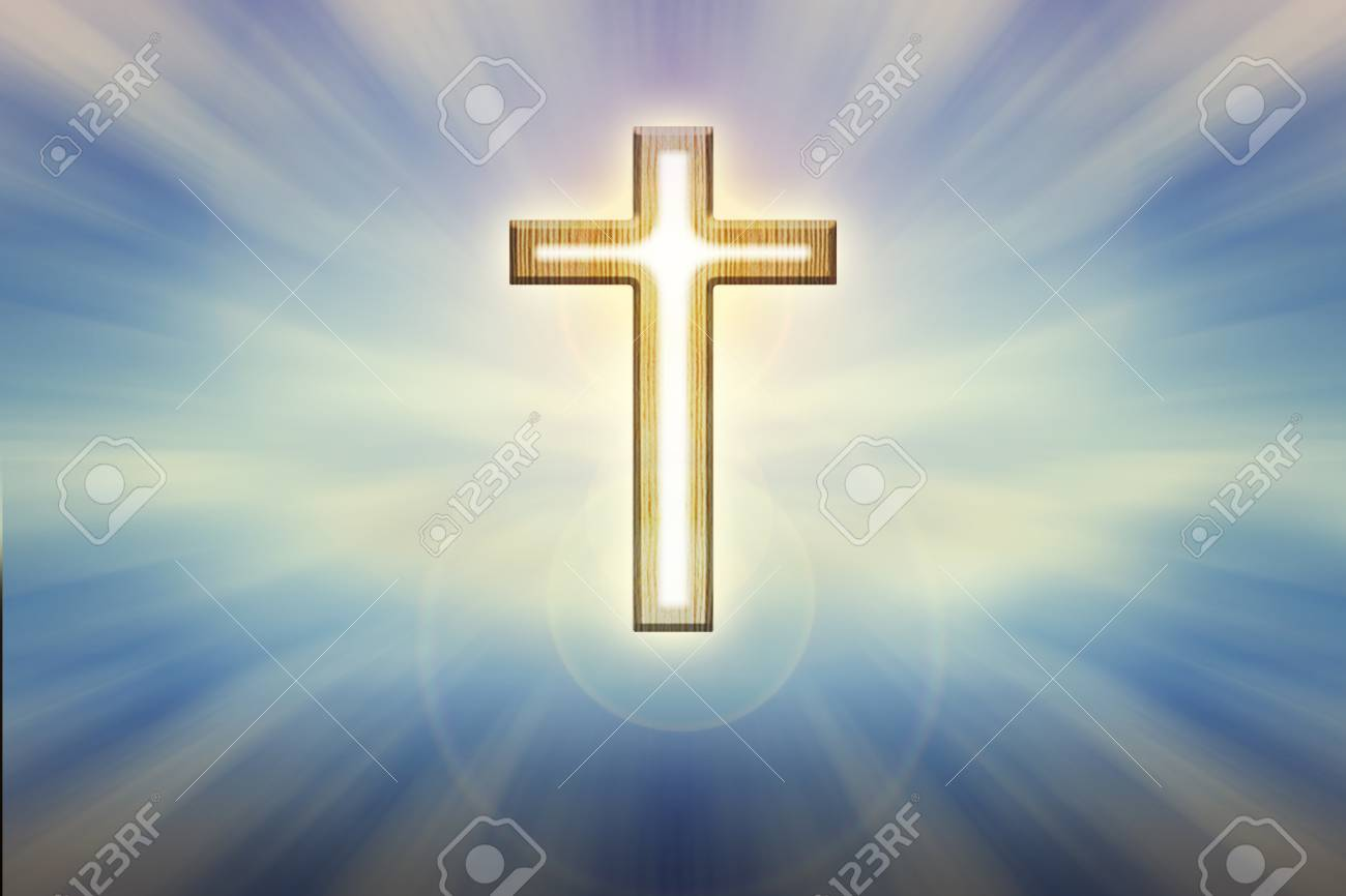 Crucifix Image Free On 59152046 Stock Photo And Light Image Blue Background Glow Trough Picture Shining God Royalty Form