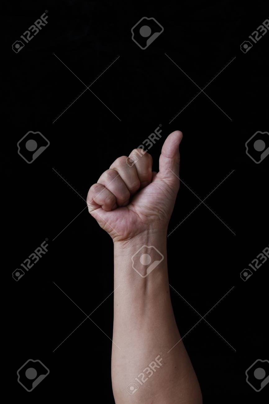 Pose of the finger Stock Photo - 18558186