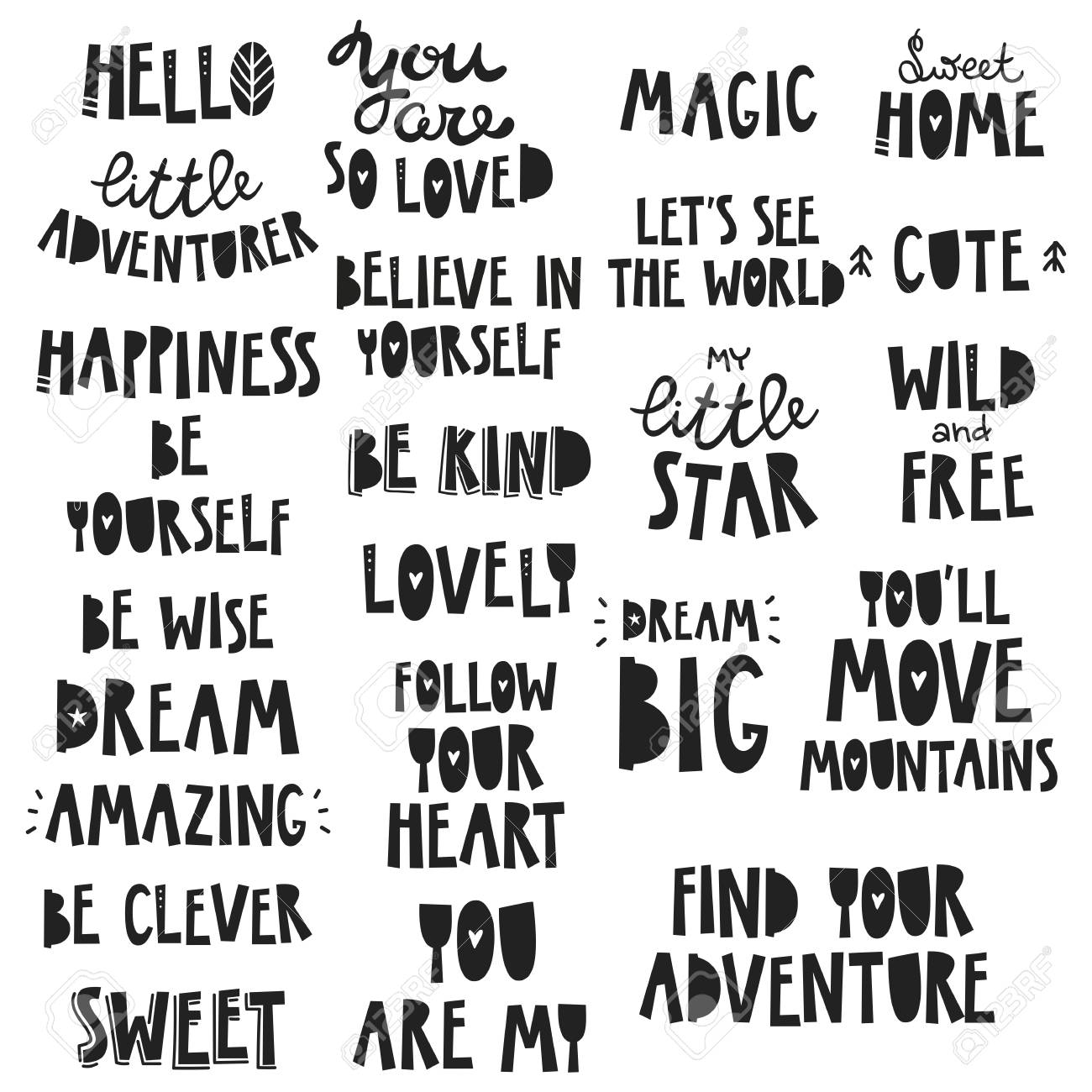 Cute kids phrases for baby room greeting card print on the cute kids phrases for baby room greeting card print on the wall m4hsunfo