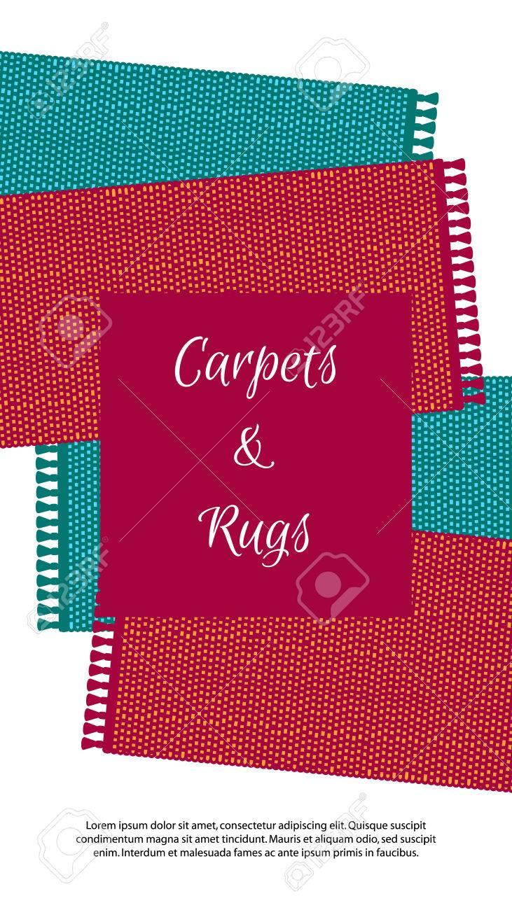 Teppich-Vektor-Illustration, Bunte Banner. Teppiche Getrennt Auf ...