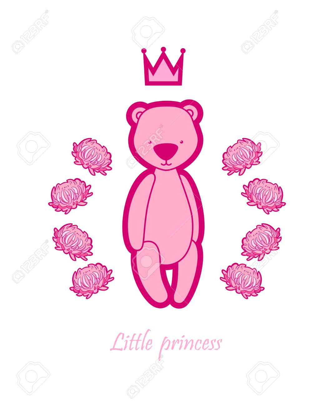 vector newborn baby greeting card template poster with cute