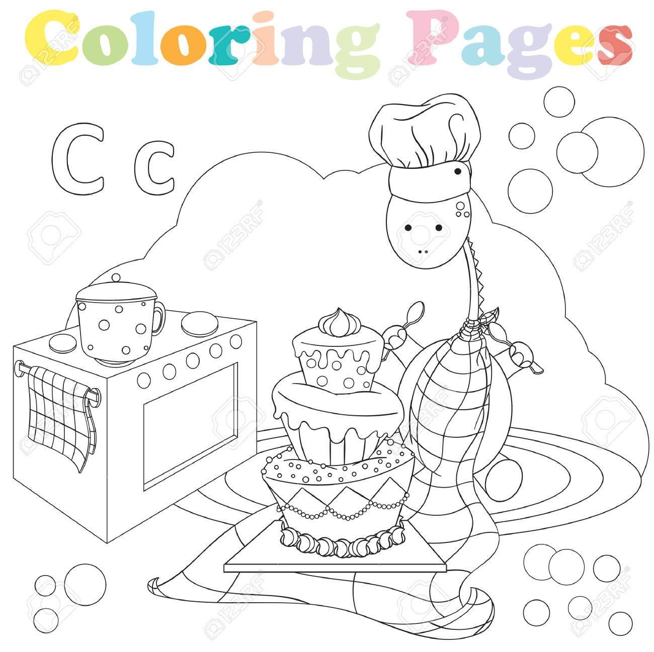 Dibujos Para Colorear Para Niños Juego De Alfabetos Letra C