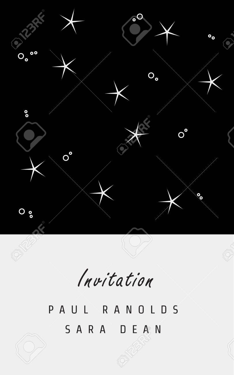invitation card or ticket monochrome geometric pattern templates