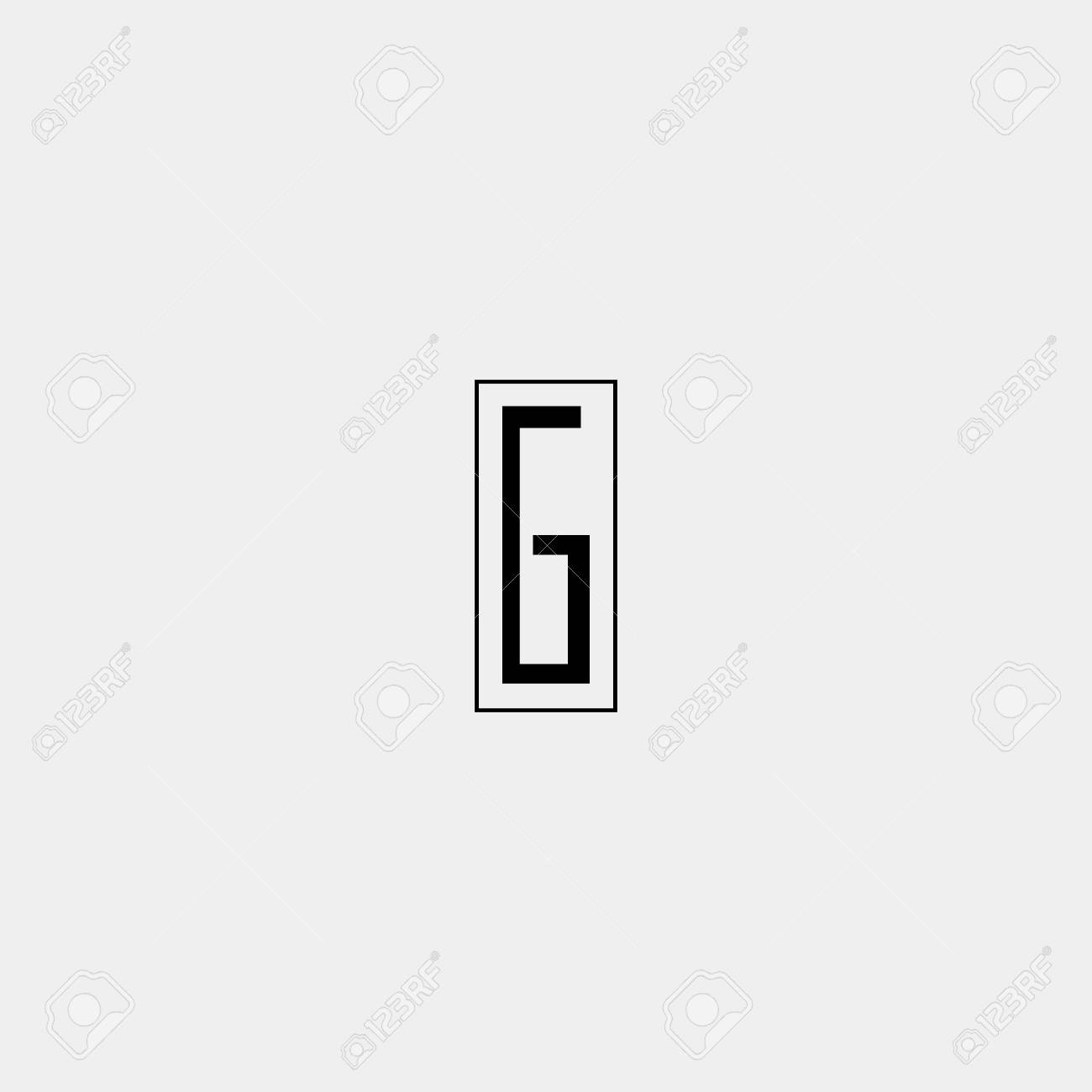 Letter G Icon Design Template Elements Black And White Minimalistic