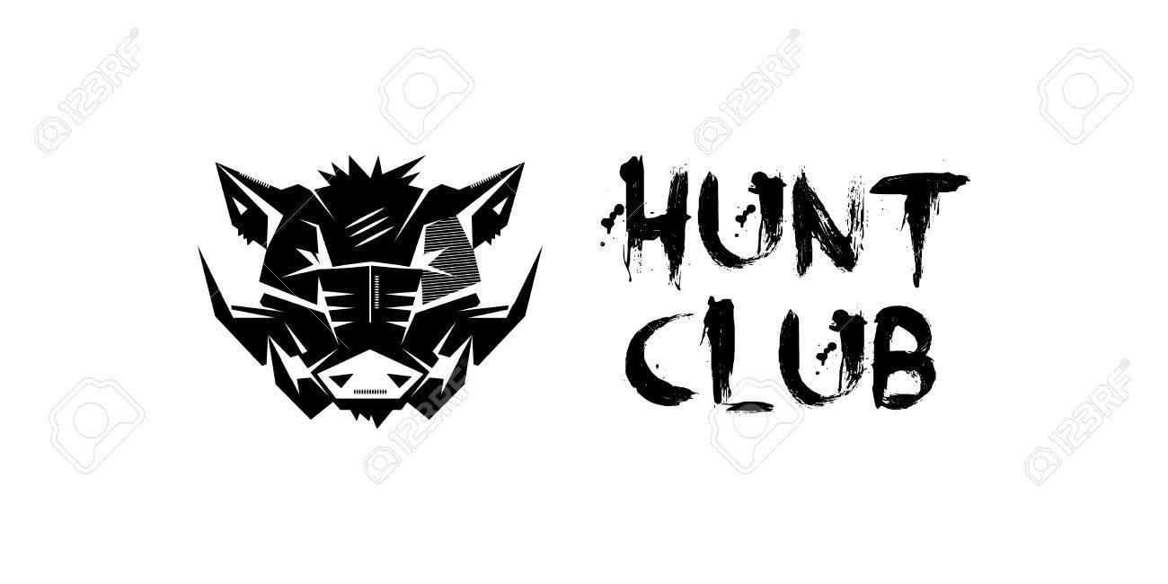 Black And White Monochrome Emblem Symbol Logotype Sign Badge