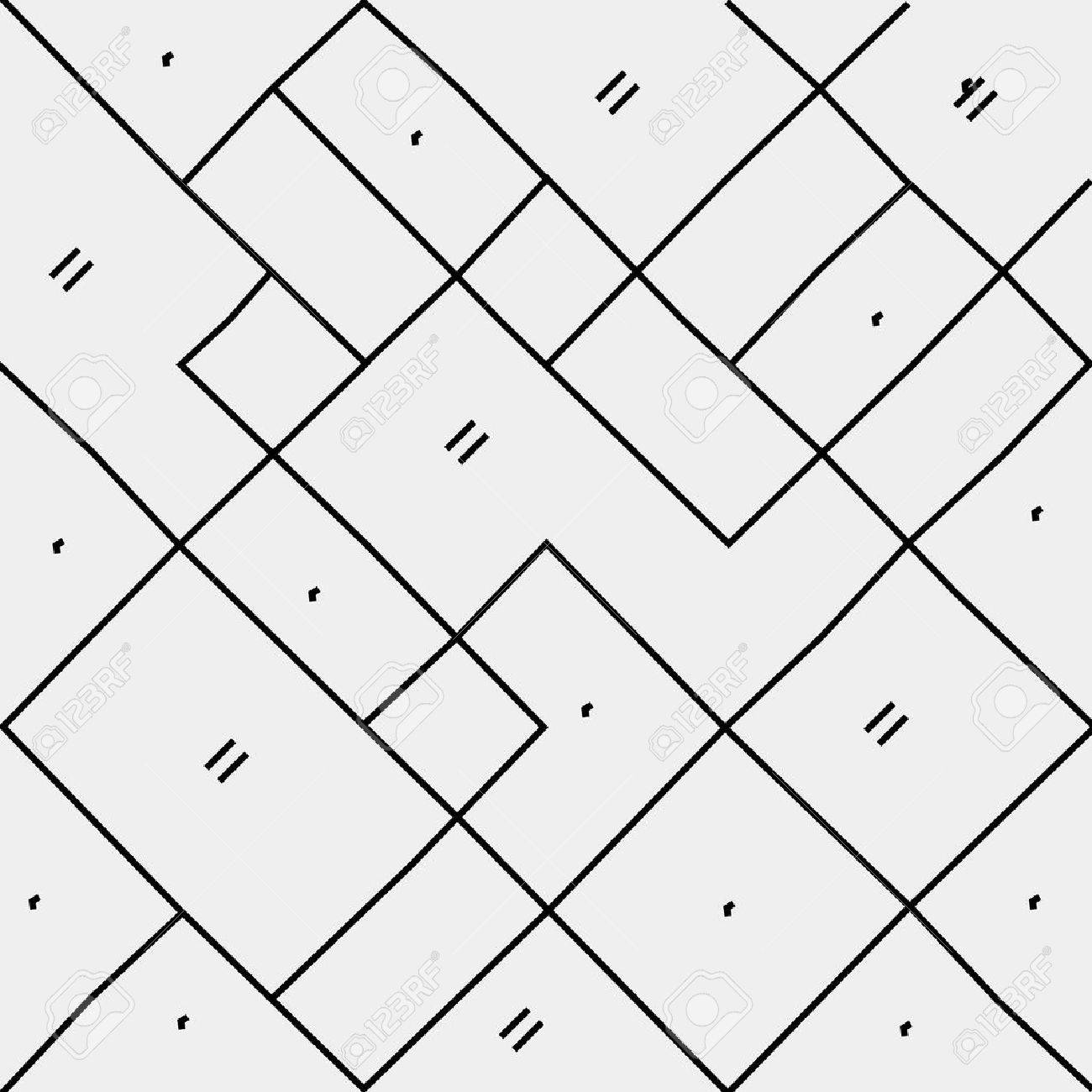 Geometric Simple Black And White Minimalistic Pattern Diagonal