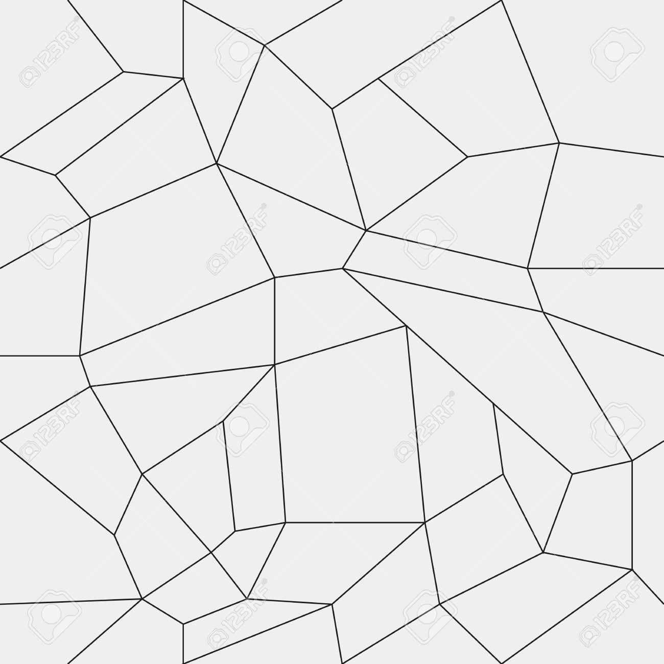 Geometric Simple Black And White Minimalistic Pattern Rectangles