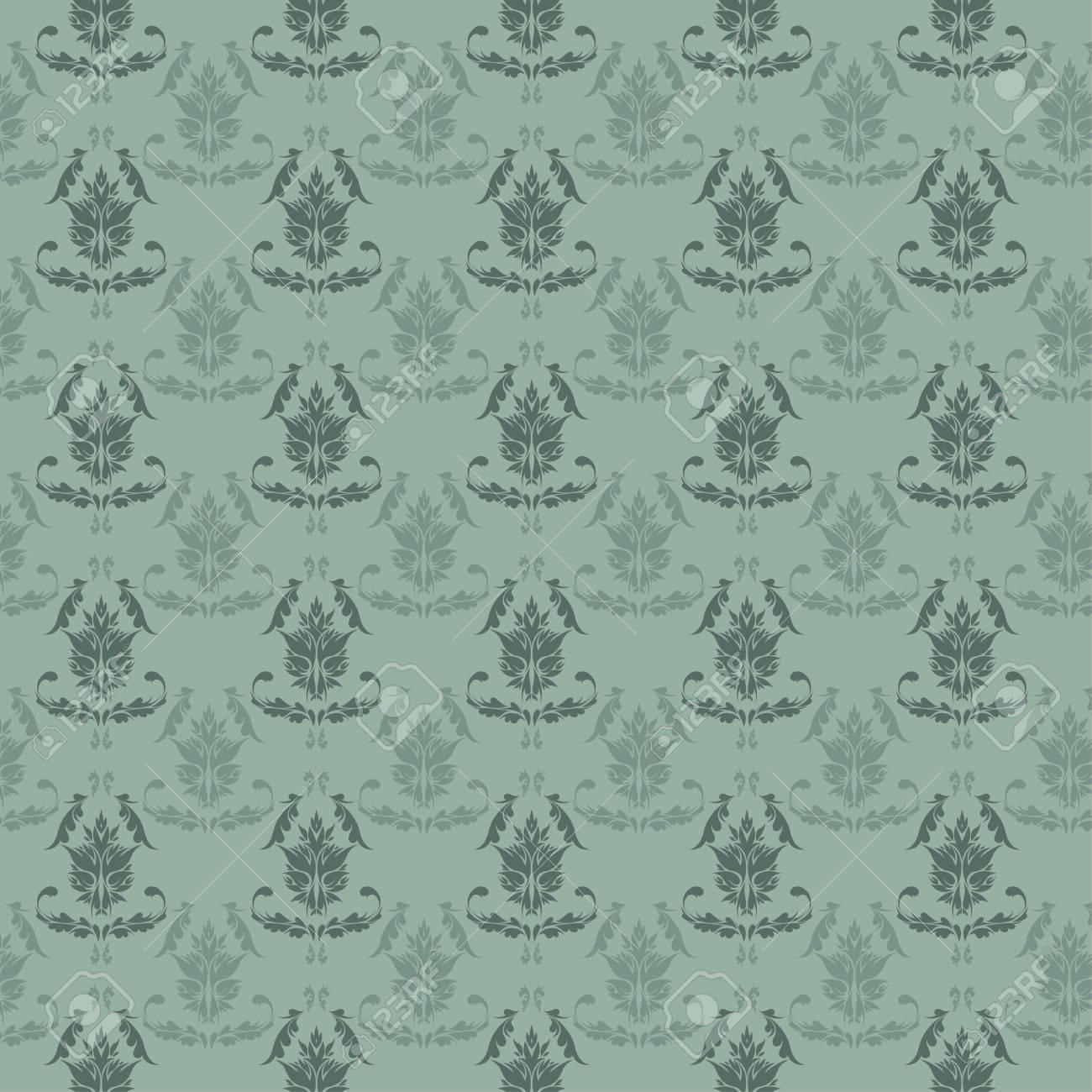Seamless Damask wallpaper Stock Vector - 13467698