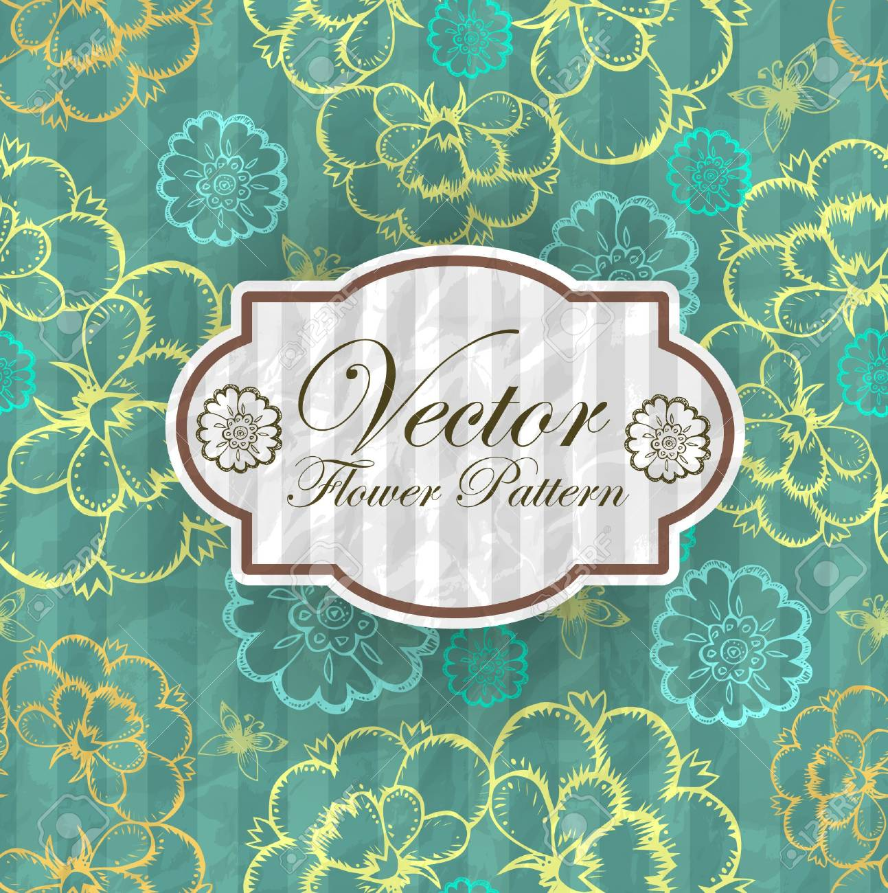 Abstract Elegance Seamless pattern with floral background vintage style Stock Vector - 17031787