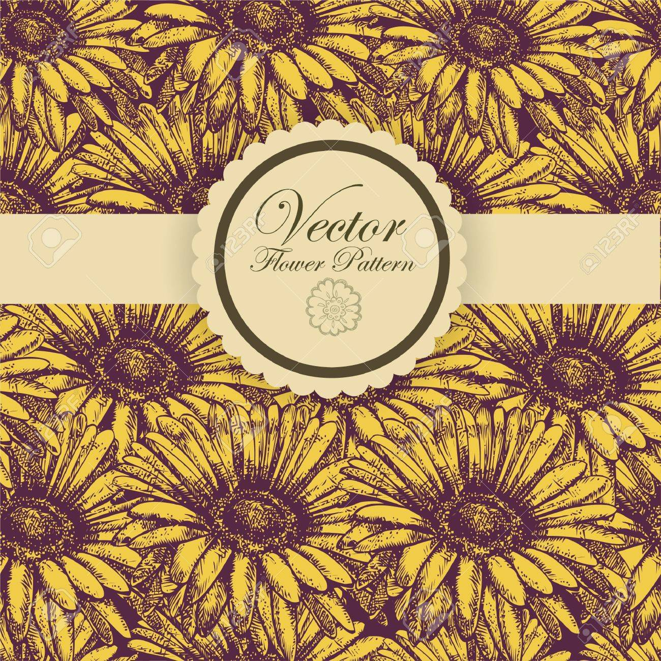 Abstract Elegance Seamless pattern with floral background vintage style Stock Vector - 17031830