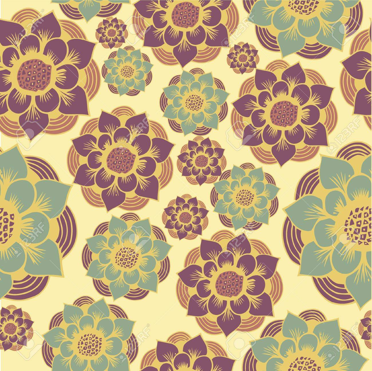 Abstract Elegance Seamless pattern with floral background vintage style Stock Vector - 17031525