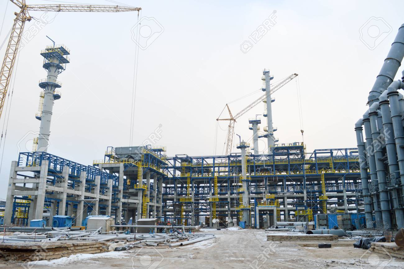 Construction of a new oil refinery, petrochemical plant with
