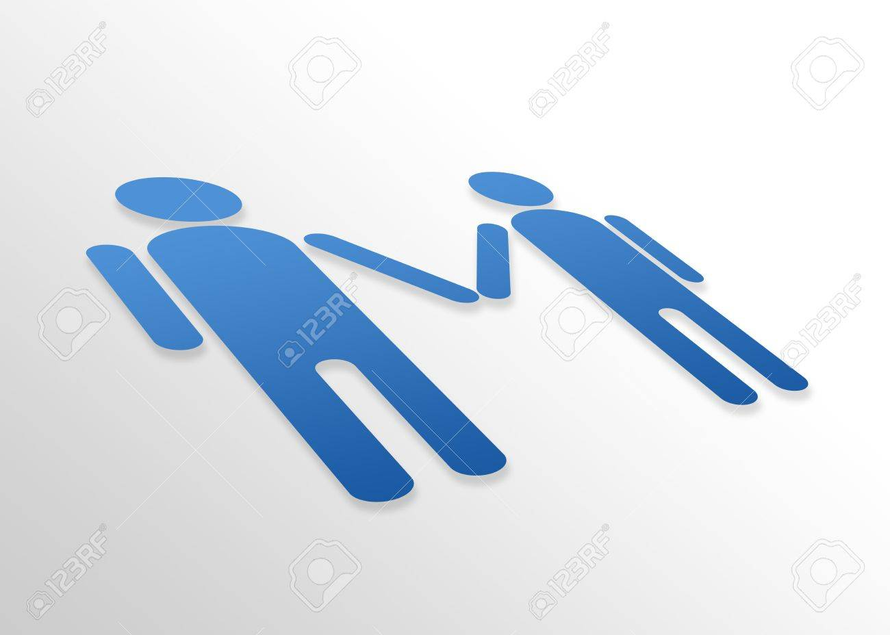 High resolution perspective graphic of a gay male couple. Stock Photo - 8715087