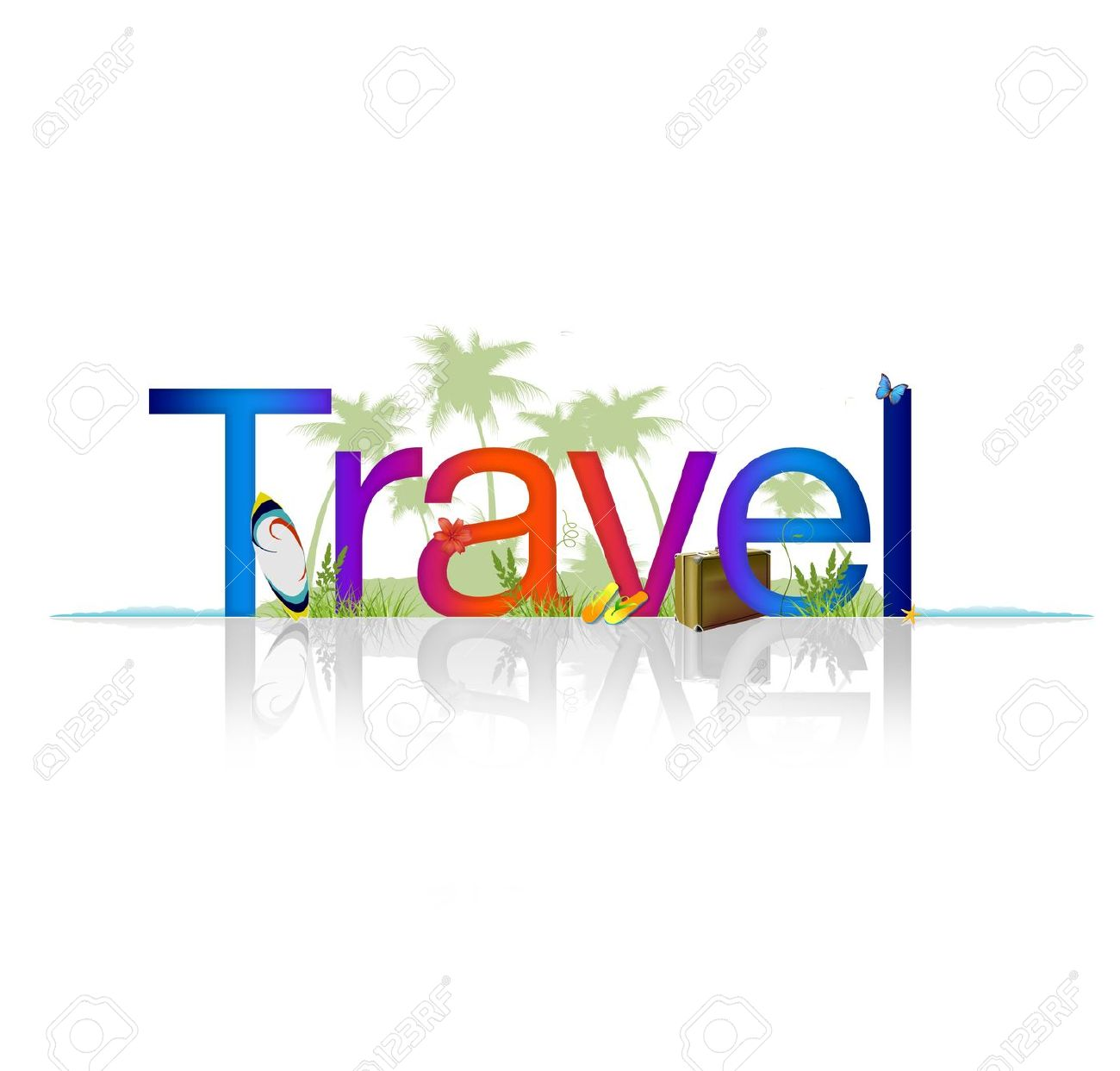 high resolution graphic of the word travel on white background