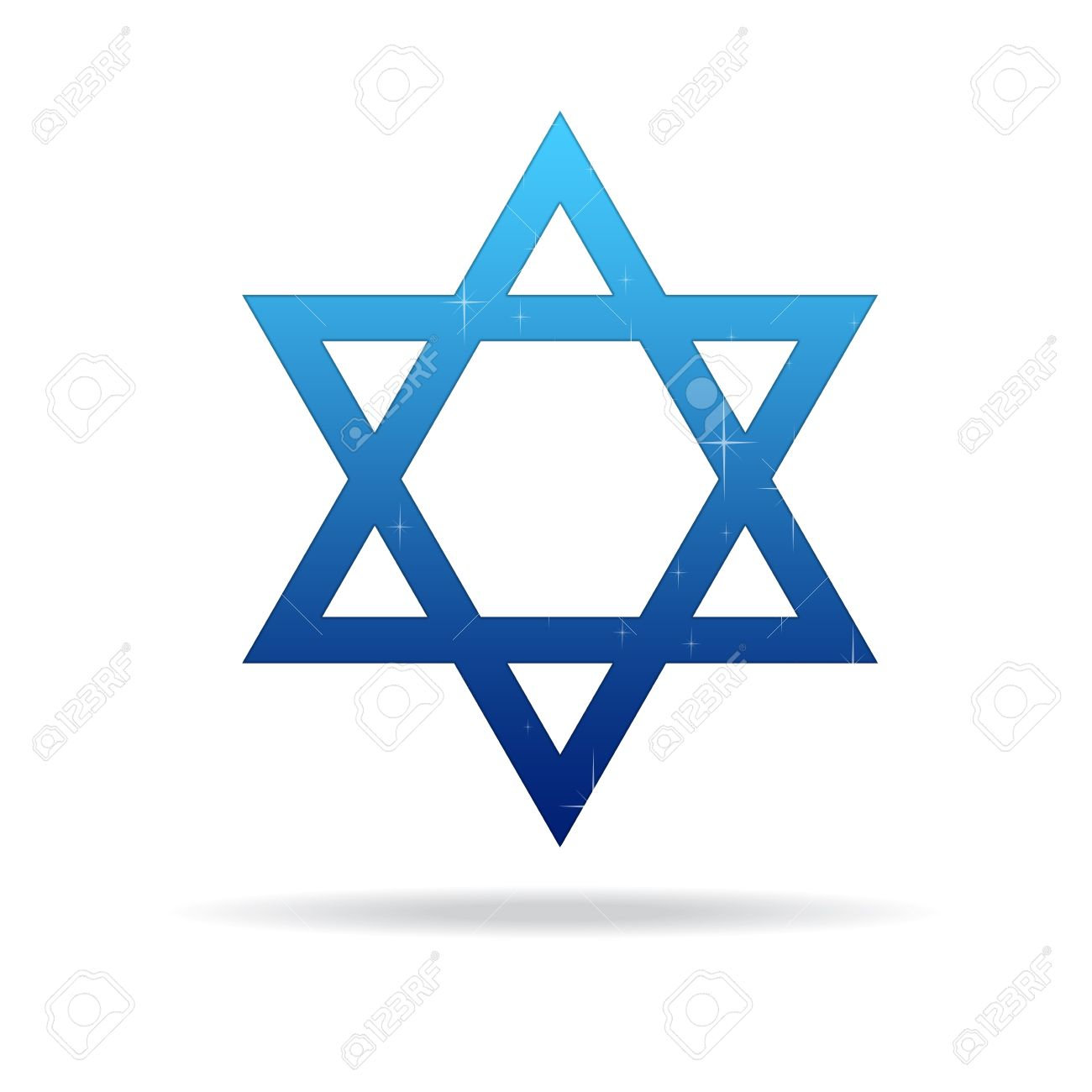 High resolution star of david on white background. Stock Photo - 9616508