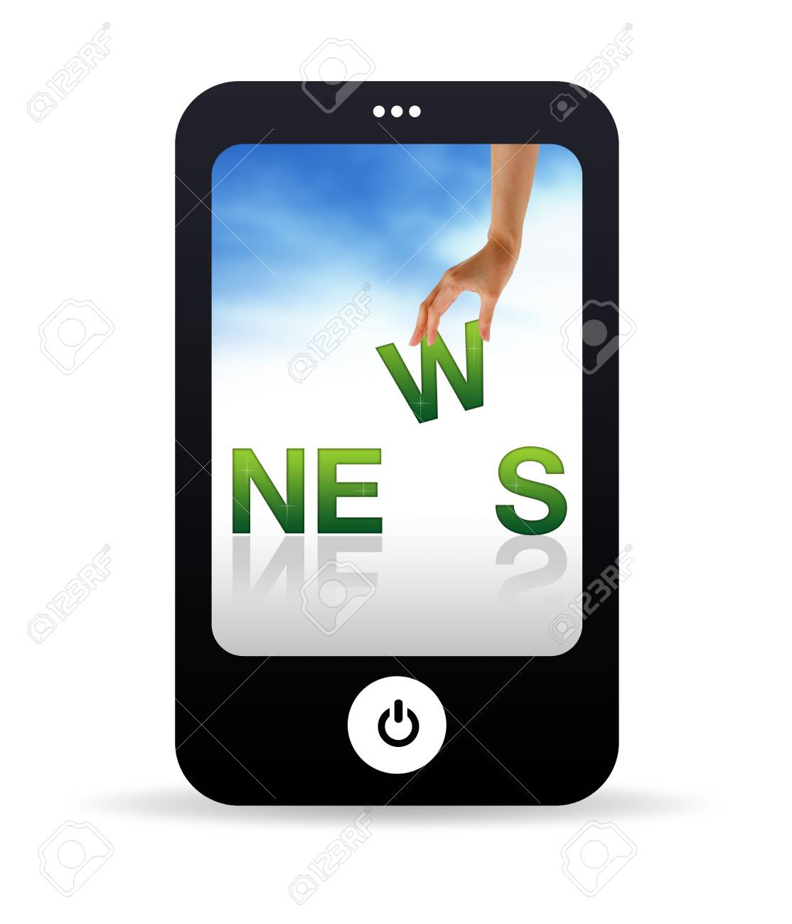 High resolution Mobile phone graphic with the word news Stock Photo - 9750139