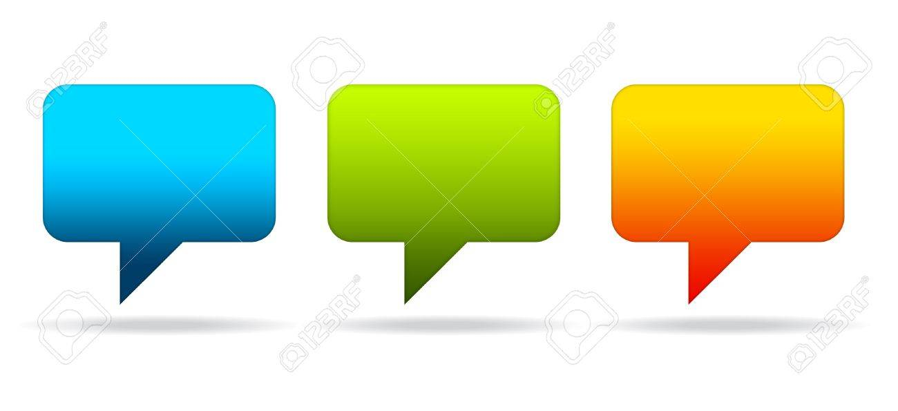 High resolution graphic of colorful speech bubbles. Stock Photo - 9836315