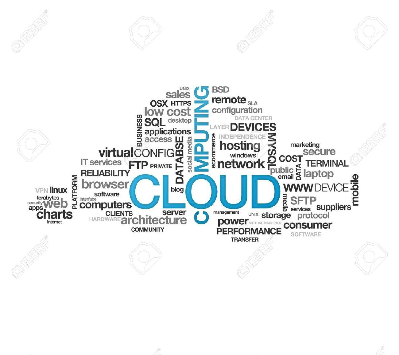 High resolution graphic of a cloud computing on white background Stock Photo - 9836317