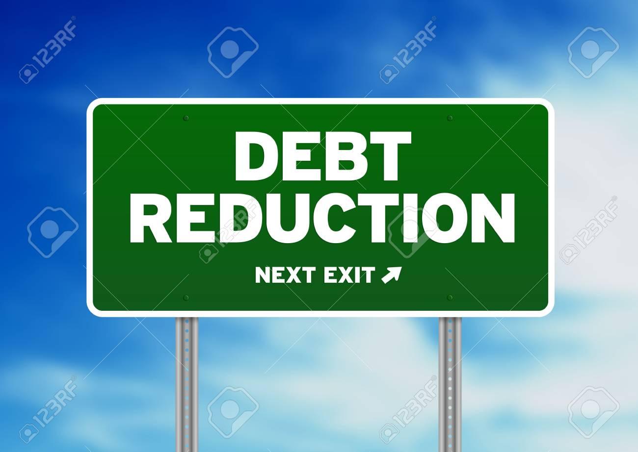 クラウド背景に緑債務削減高速道...