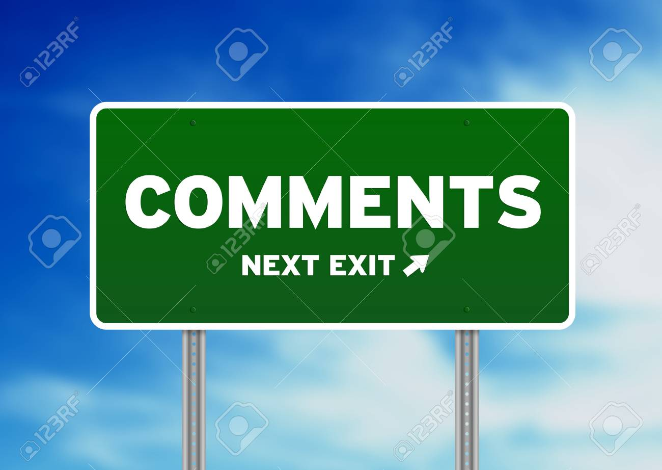 Green comments road sign on Cloud Background. Stock Photo - 10301714