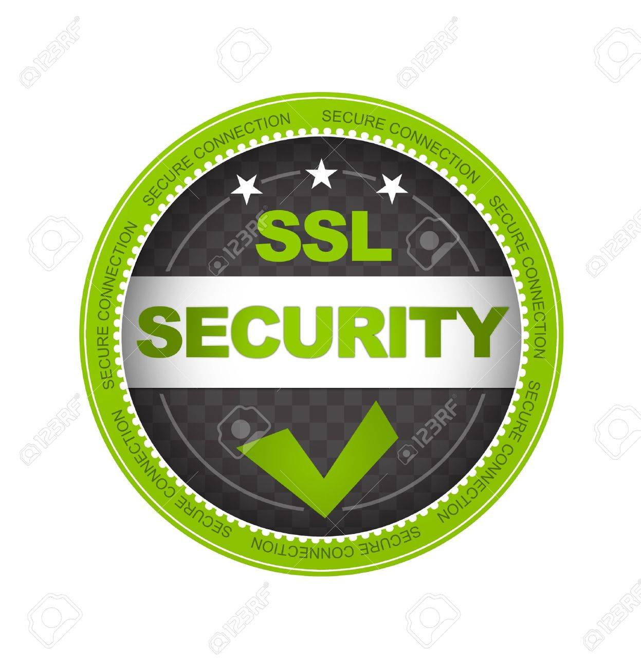 Green SSL Security Button On White Background. Stock Photo ...