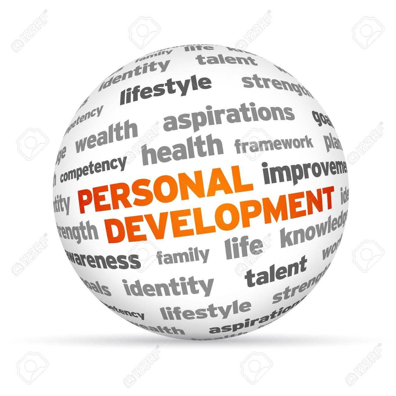life aspiration stock photos pictures royalty life life aspiration 3d personal development word sphere on white background stock photo
