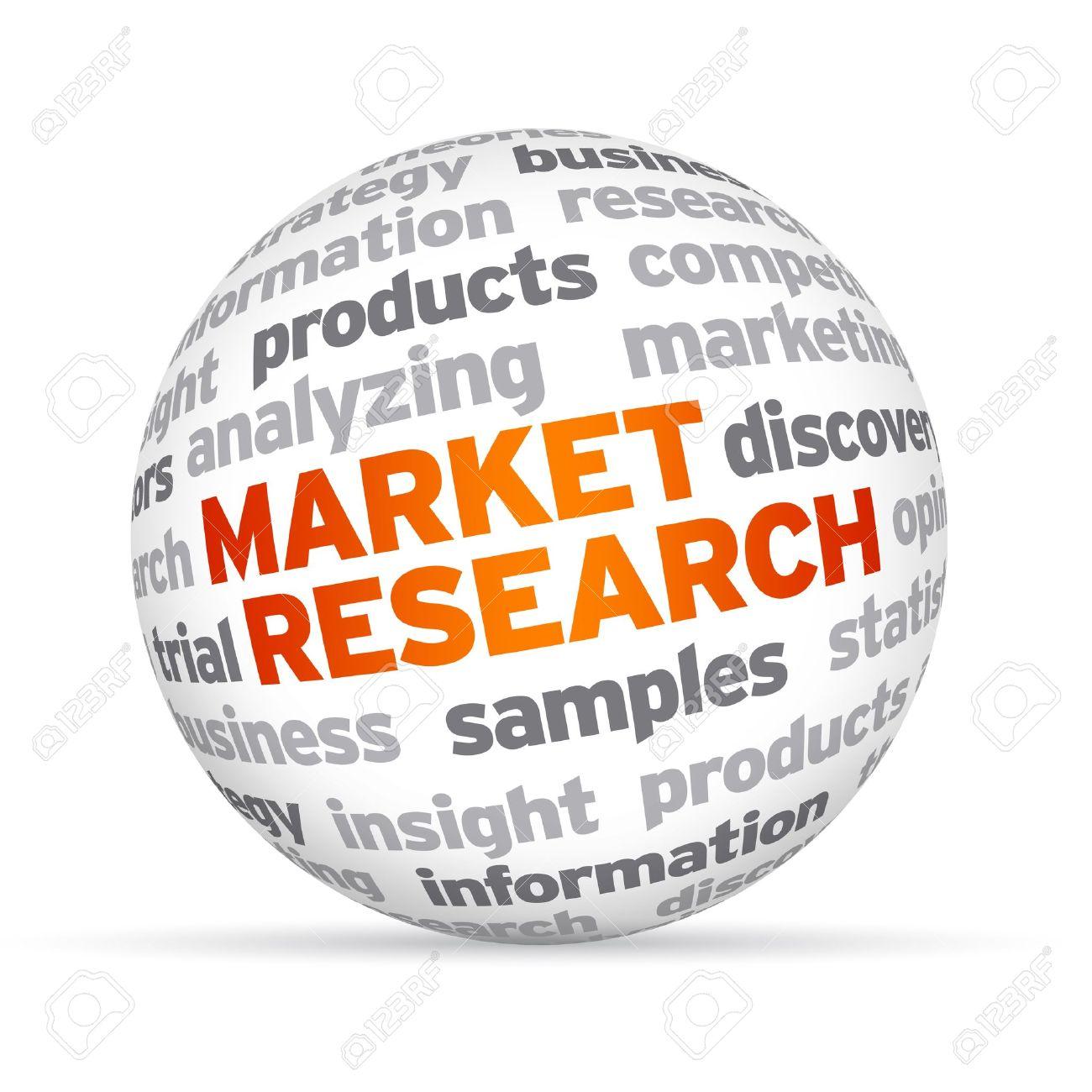 Market Research | 3d Market Research Word Sphere Auf Weissem Hintergrund Lizenzfreie