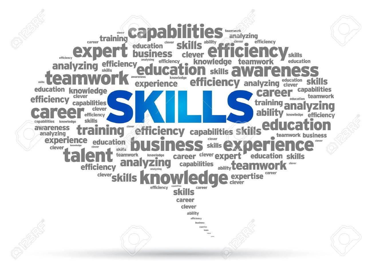 skills word speech bubble illustration on white background skills word speech bubble illustration on white background stock vector 14768936