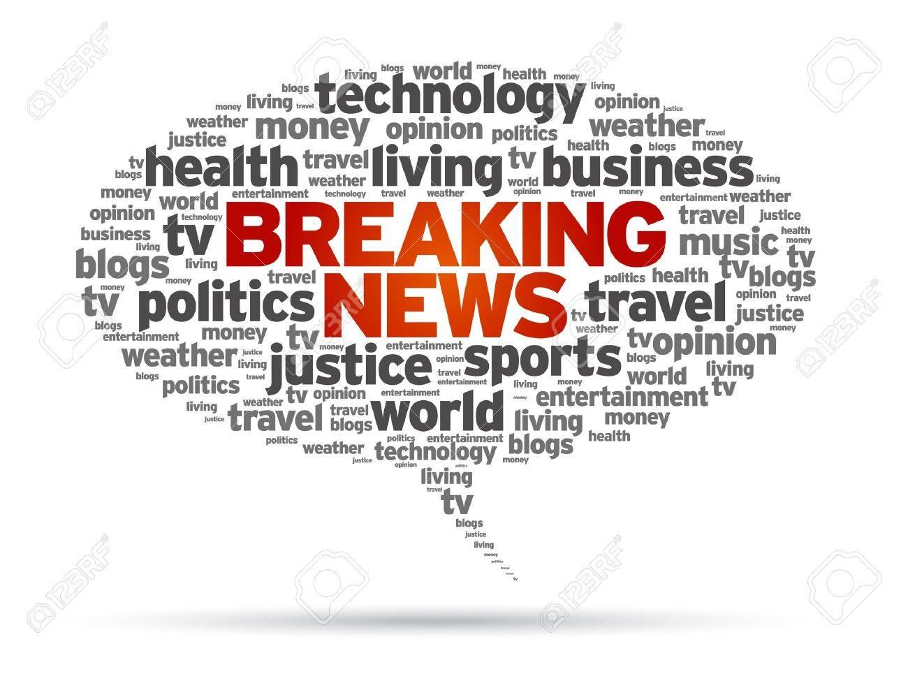 Breaking News speech bubble illustration on white background. Stock Vector - 15053993