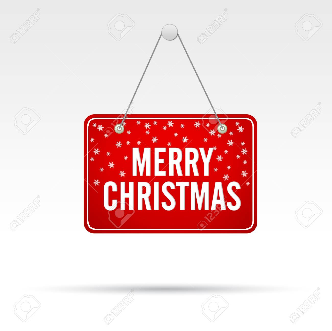 Merry Christmas Store Sign Stock Photo