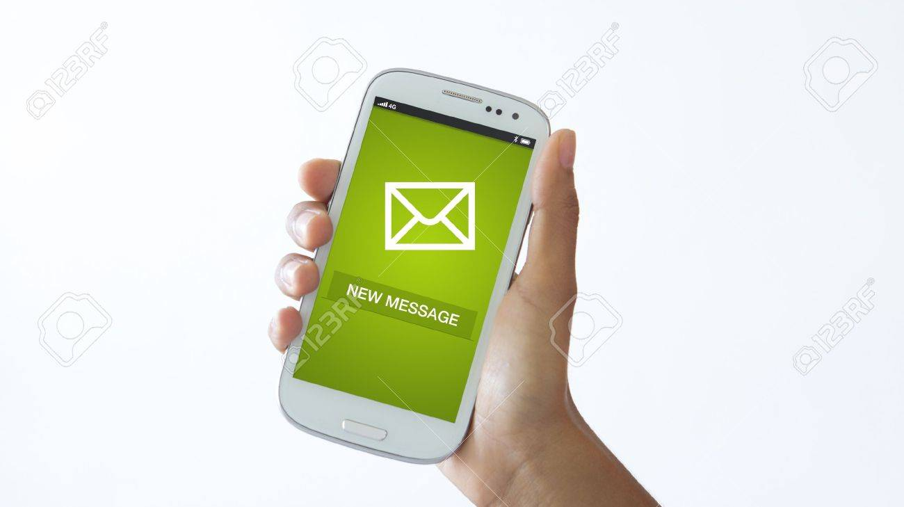 A person holding a Mobile phone checking new messages. Stock Photo - 18133559