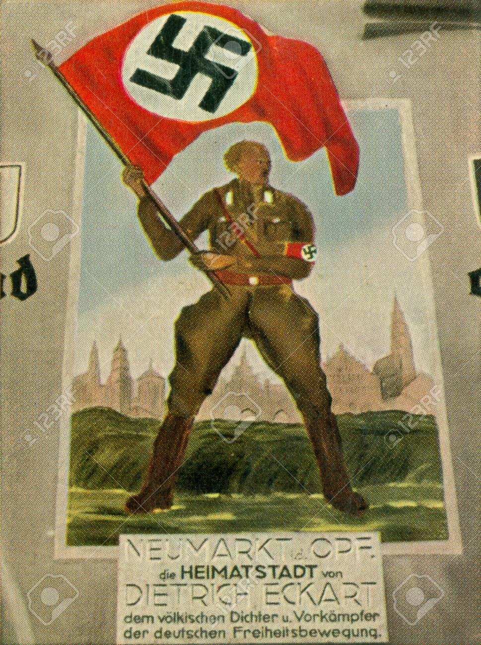 CIRCA 1933: Rare German vintage cigarette card from the 1933 Der Staat der Arbeit und des Friedens album, Part 2, Picture 241. Stock Photo - 19997041