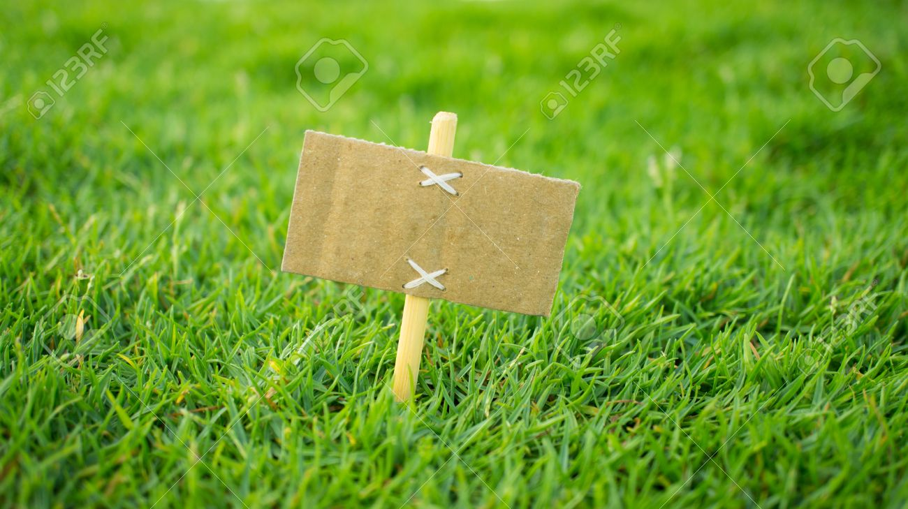 A miniature for sale sign on green grass Stock Photo - 23479007