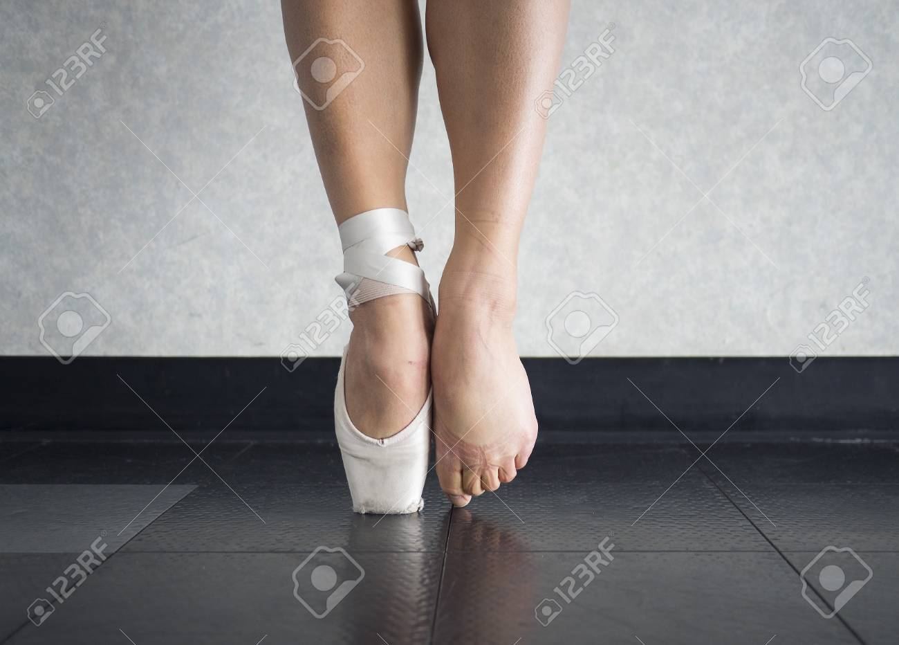 The Ballet Dancer Balance On Their Pointe Shoes And The Feet Stock Photo Picture And Royalty Free Image Image 102618866