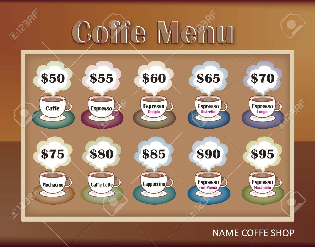 template designs of menu for coffee shop and restaurant, vector file Stock Vector - 13616511