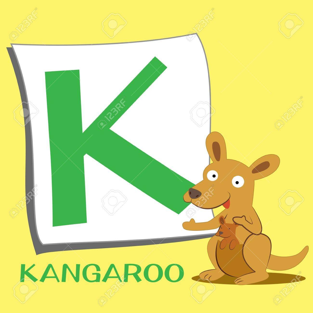 illustration of isolated animal alphabet k with kangaroo stock vector 15208293