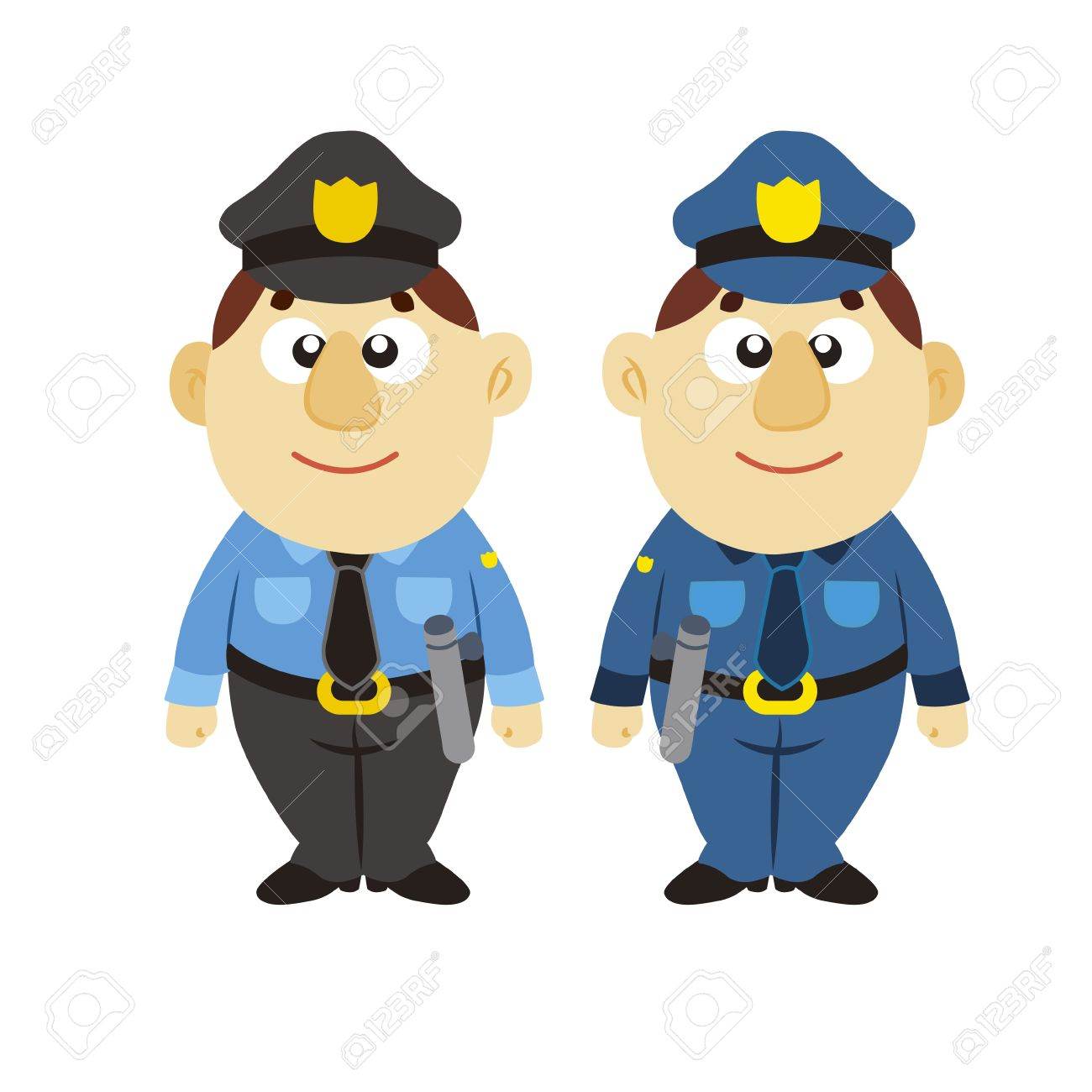 funny cartoon policeman, two colors Stock Vector - 17274715