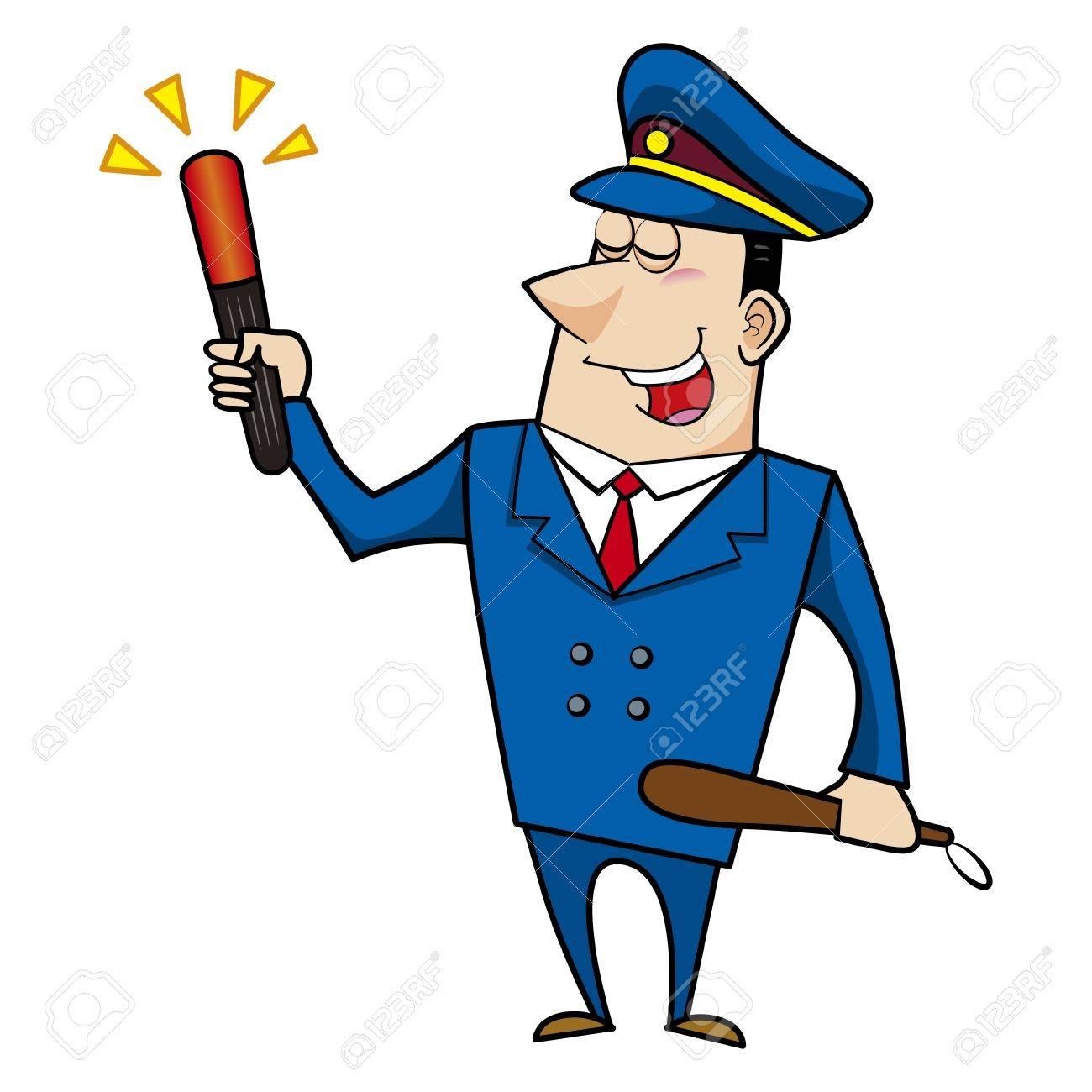 male cartoon police officer Stock Vector - 18107628
