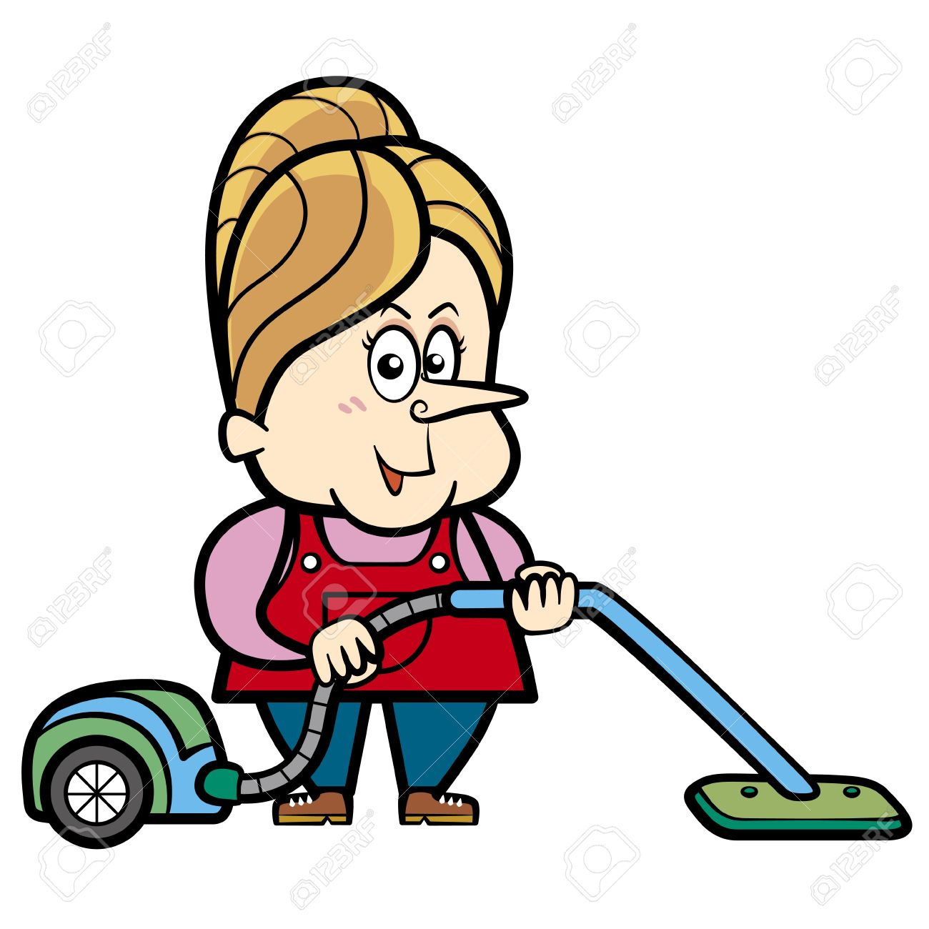 Vacuum cleaner clipart vacuum cleaner clip art - Vacuum Cleaner Cartoon Housewife With A Vacuum Cleaner Illustration