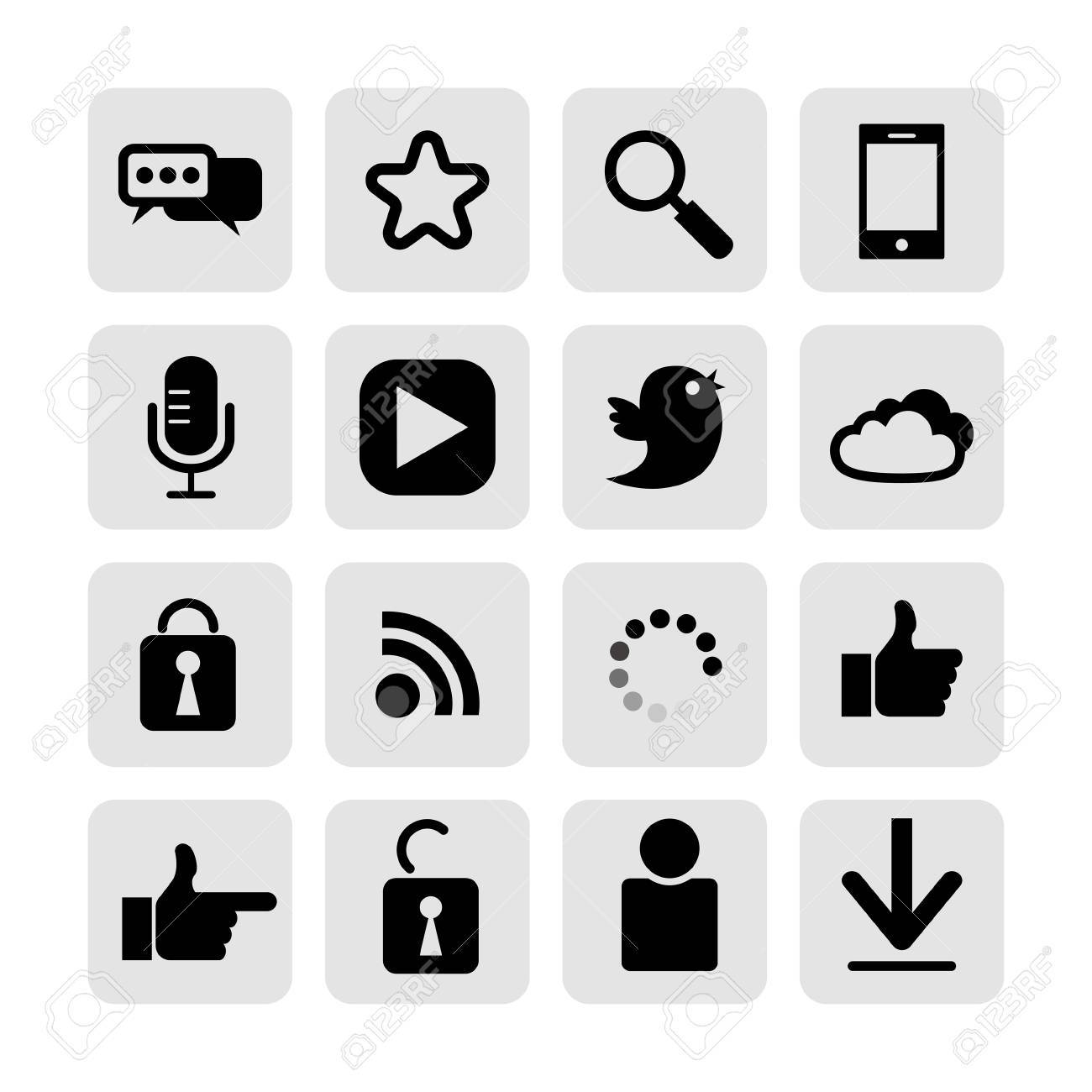 web, communication icons  internet vector set Stock Vector - 19830391