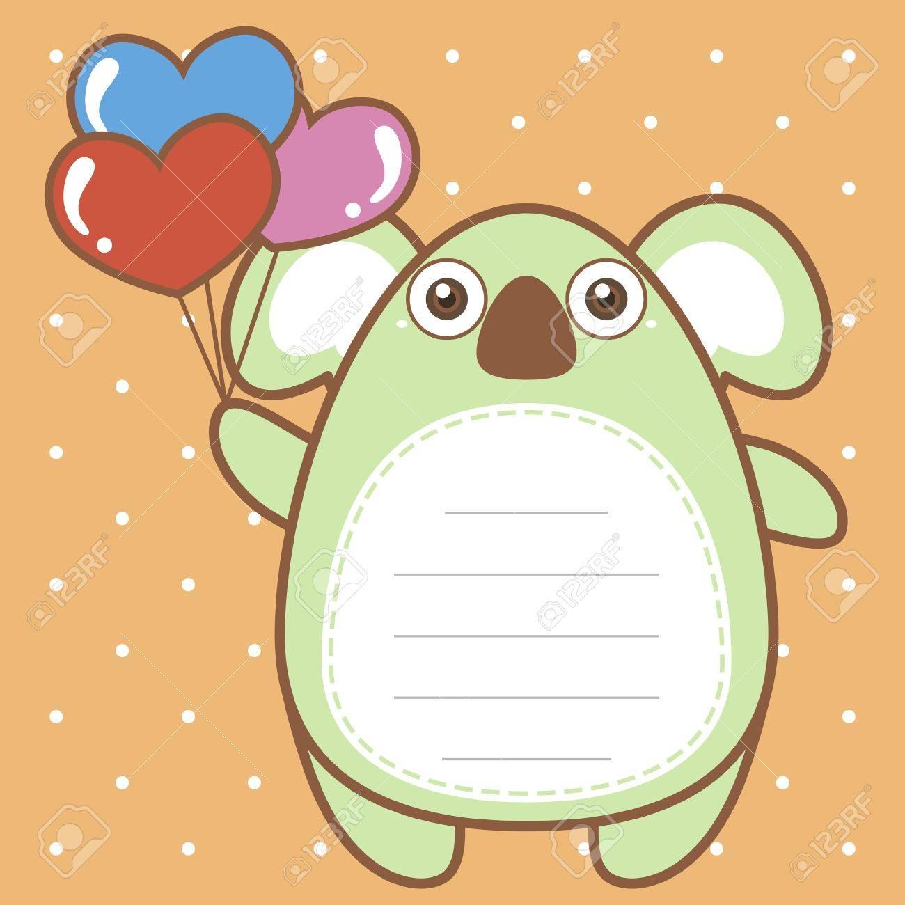 cute koala of scrapbook background. Stock Vector - 20589154