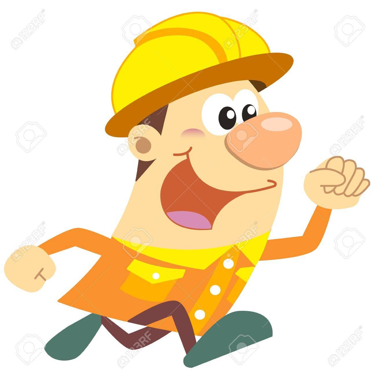 Cartoon Bauarbeiter Mit Weissem Hintergrund Lizenzfrei Nutzbare