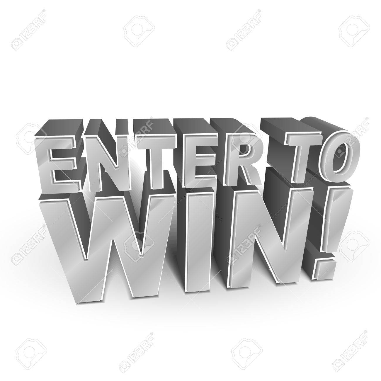 enter to win stock photos pictures royalty enter to win enter to win 3d illustration of the words enter to win isolated on white illustration
