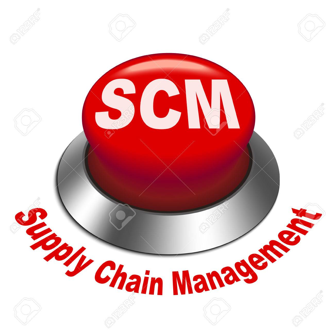 3d Illustration Of Scm ( Supply Chain Management ) Button Isolated ...