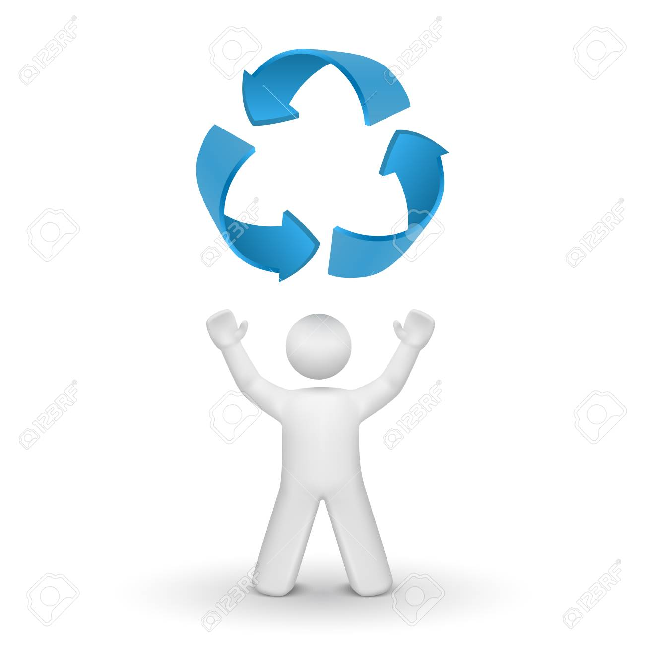 3d person looking up at the recycling symbol isolated white 3d person looking up at the recycling symbol isolated white background archivio fotografico 25023669 biocorpaavc Choice Image