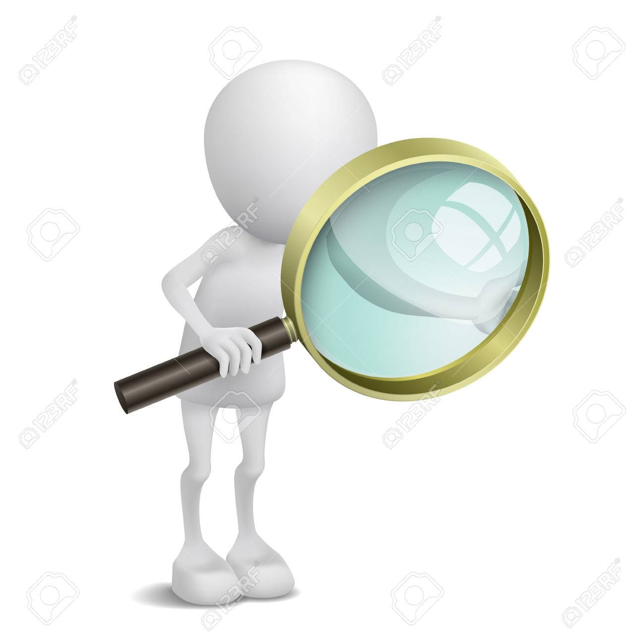 3d person is using the magnifying glass - 25026103