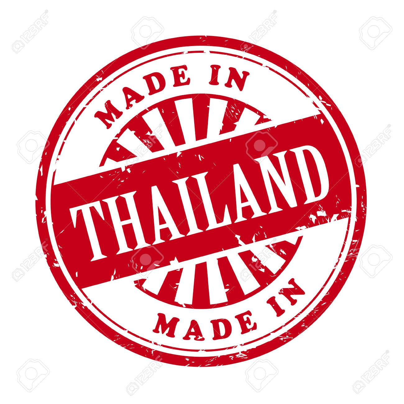Illustration Of Grunge Rubber Stamp With The Text Made In Thailand ...