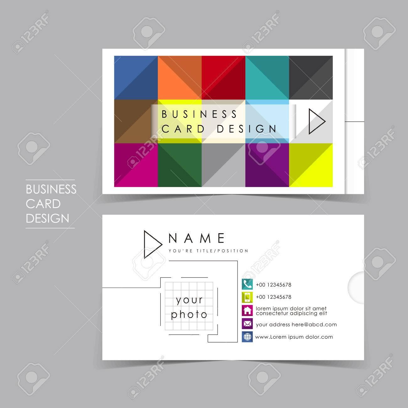 Color Carte De Visite Vecteur Brique Scnographie Modle Clip Art