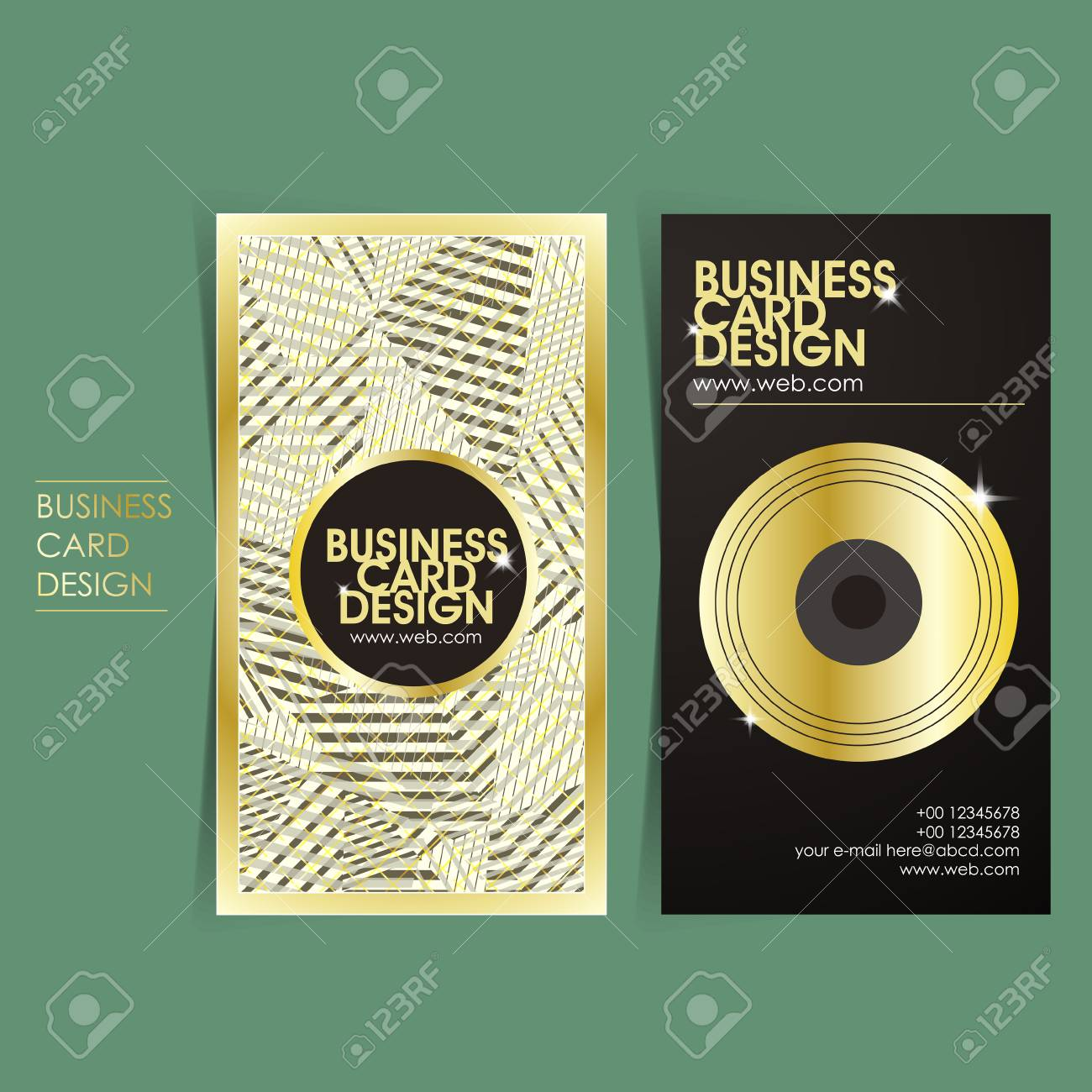 Hip-hop Style Vector Business Card Set Template Design Royalty Free ...